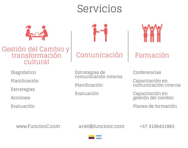 Servicios gestión del cambio, comunicación y cultura organizacional